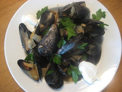 Mussels for lunch!