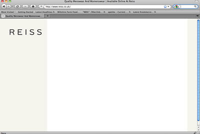 Reiss Homepage without Javascript