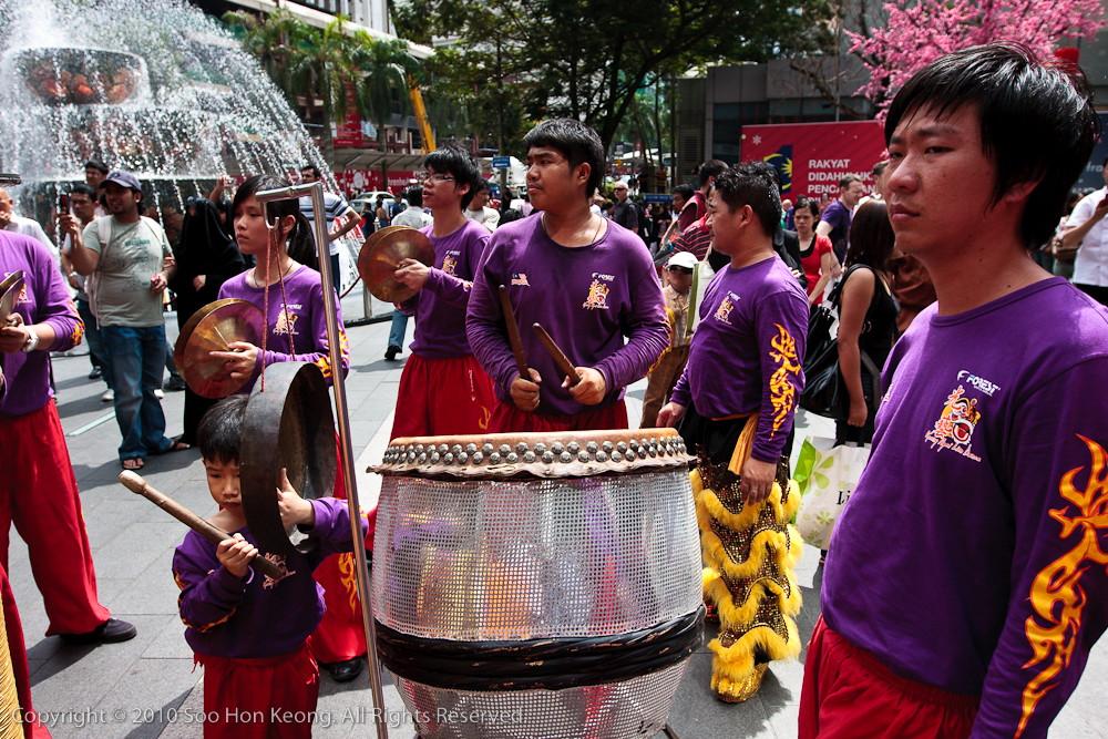 Lion Dance Musician @ Pavilion, KL, Malaysia