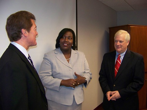 From left: Randy Jenkins, ARRA General Field Accountant with USDA RD in Washington, DC; USDA RD Mississippi State Director Trina N. George; and David J. Villano, USDA Assistant Administrator for Telecommunications Programs.
