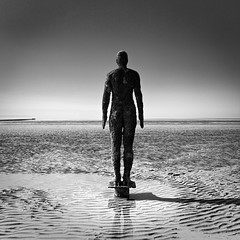 116/365 (mahonyweb) Tags: uk england silhouette liverpool lightroom antonygormley photooftheday merseyside lr3 anotherplace crosbybeach singleexposure project365 canon2470l canonllens 365project gormleystatue lightroom3 mahonyweb canoneos1dsmarkiii canon1dsmkiii wwwmahonywebcom dopplr:explore=5081