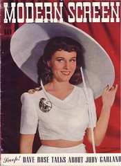 Paulette Goddard on the cover of Modern Screen, July 1941 (Silverbluestar) Tags: ladies girls white color classic film beautiful beauty hat fashion vintage magazine stars women pretty brooch womens 1940s cover hollywood actress movies celebrities brunette midriff 1941 paramount elegance womens paulettegoddard modernscreen