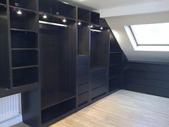 Fitted wardrobes (thelittlebedcompany) Tags: wood loft lights space room style wardrobe drawers slope fitted