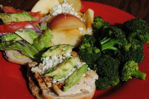 lunch, chicken, health food