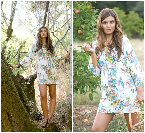 Tunic Dress/Top. Beckoning Creatures. by Plum Pretty Sugar  Loungerie.