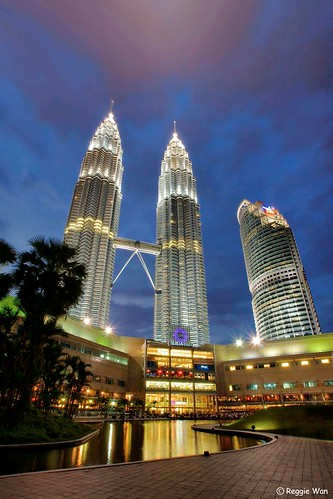 Blue hour at KLCC.