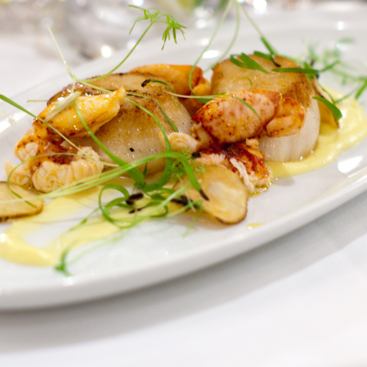 Scallops and Lobster Appetizer