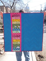 Spring Zig March Zag quilt - back (A fish in the water) Tags: quilt zigzag annamariahorner
