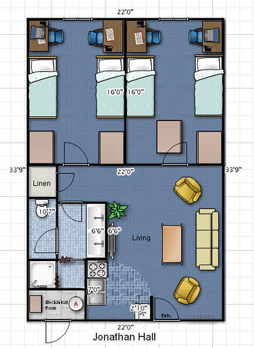 Jonathan Hall floor plan