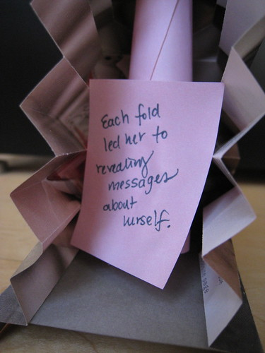 Each fold led her to revealing messages about herself.