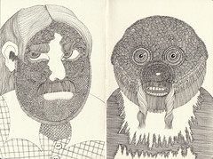 BB's sketchbook now (bezembinder) Tags: portrait ink drawing sketchbook moleskin bezembinder fineliner schetsboek