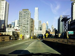 Droid and the City!!! (Houry Photography -on/off) Tags: city bridge car yellow photography google cab yellowcab motorola droid bldg houry verizion