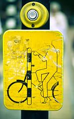 bike crossing (chloeloe) Tags: signs amsterdam bike