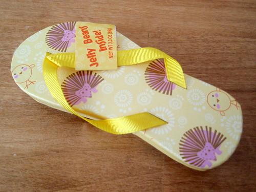 Hedgie flip-flop jellybeans