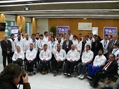Vincent Gauthier à Roissy, à son retour des JO paralympiques de Vancouver