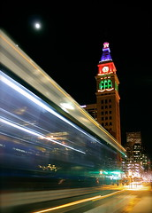 Daniels & Fisher Clocktower at Christmas (TVGuy) Tags: street urban tower canon df downtown december traffic denver clocktower fisher daniels 16th denverco