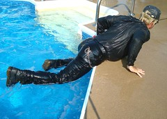 09 LS Wet humping pool edge mates! (Leviswimmerwet) Tags: wet wetlook swimmingfullyclothed wetleather menswimming wetboots wetladz wetleatherjeans swimminginleather guysswimmingfullyclothed meninwetjeans wetladzinleather docmboots wetdiving