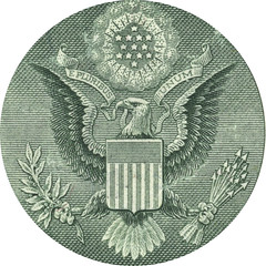 Eagle from the One Dollar Bill (Joefigg) Tags: money green america photoshop 1 us bill washington high pyramid eagle photos printer united cash adobe loot dollar scanned resolution were states these cs3 cs4
