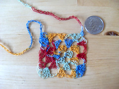 Lacy Lil' Granny Square Necklace (knittinandnoodlin) Tags: thread square crochet yarn tiny etsy granny