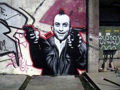 Taxi Driver (MTO (Graffiti Street art)) Tags: portrait blackandwhite bw streetart berlin art kreuzberg graffiti blackwhite kunst oldschool spray soul taxidriver schwarzweiss mateo noirblanc deniro dose photorealistic artderue scorcese oldiesbutgoodies mto spru bekindrewind graffitiportrait prtrait graffmto strasskunst photorealiste mtograff