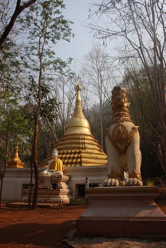 Temple at the Mon Village