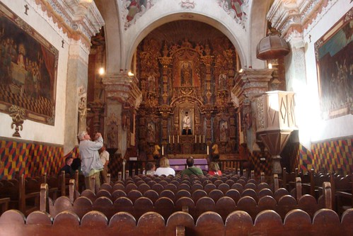 Inside San Xavier Mission