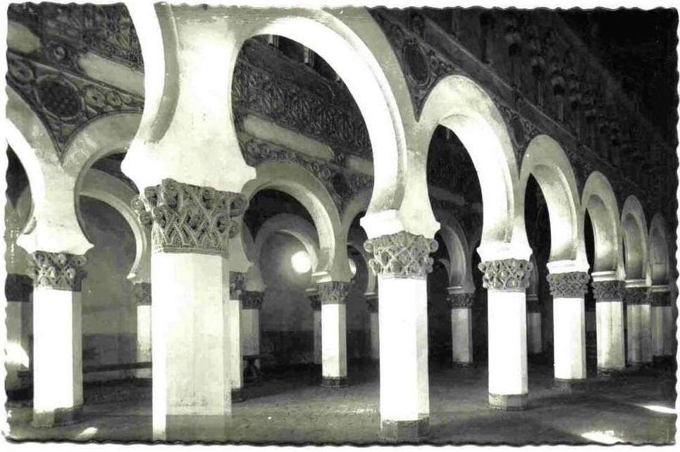 Sinagoga de Santa María la Blanca a inicios del siglo XX