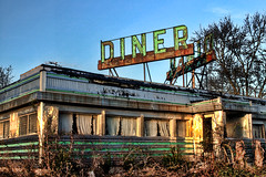 HDR New Jersey Diner Decay (NjCarGuy) Tags: new abandoned newjersey decay whitehouse diner jersey hdr diners topaz adjust route22