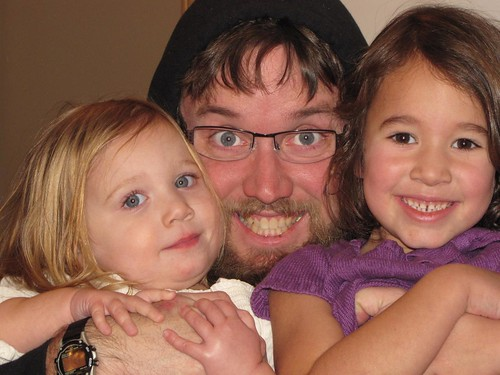 Josiah with nieces