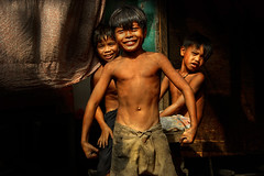 Ulingan (Charcoal) kids in Smoky Mountain, Tondo (Mio Cade) Tags: boy mountain cute dusty pose children fun photo kid child muscle philippines dirty charcoal manila environment strong smoky kuya slum tondo ulingan
