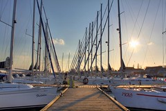 Hafen Breege 2 (Th.He) Tags: bridge sky cloud sun beach strand canon eos sonnenuntergang himmel wolken rgen brcke sonne ostsee hdr 500d breege eos500d canoneos500d