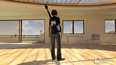 The Tester in PlayStation Home Guitar Female