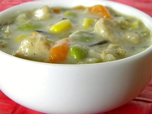 Coconut Chicken & Wild Rice Soup w/ Edamame