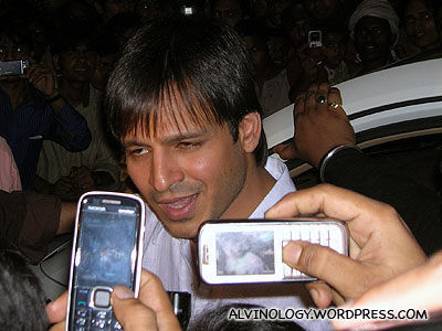 Jeremy's shot of Vivek Oberoi, the star who among caused a stampede