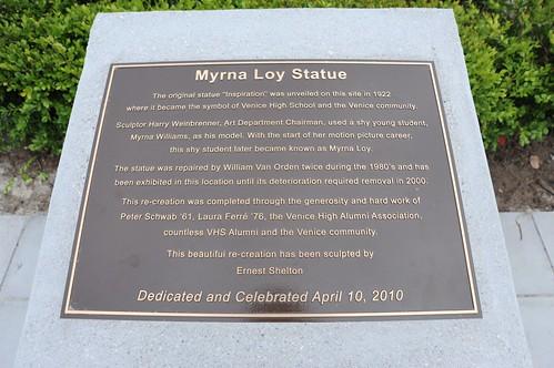 Myrna Loy Statue Venice High School