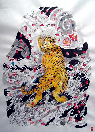 traditional japanese tiger tattoo. Japanese Tattoo Tiger and