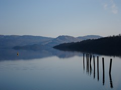 Loch Lomond (Stueyman) Tags: reflection water scotland posts lochlomond 2010