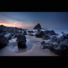 """ FIRST SHOT OF A SPECIAL SUNRISE THREE CLIFFS BAY "" (Wiffsmiff23) Tags: pool sand rocks pyramid calm virgin calmness rockpool davidsmith threecliffsbay wetrocks thegower wiffsmiff23 bendricksrock untouchedsand"