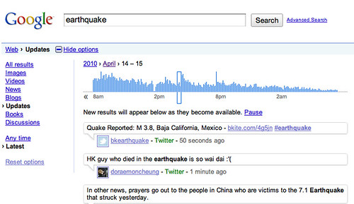 Google Twitter Archive Search