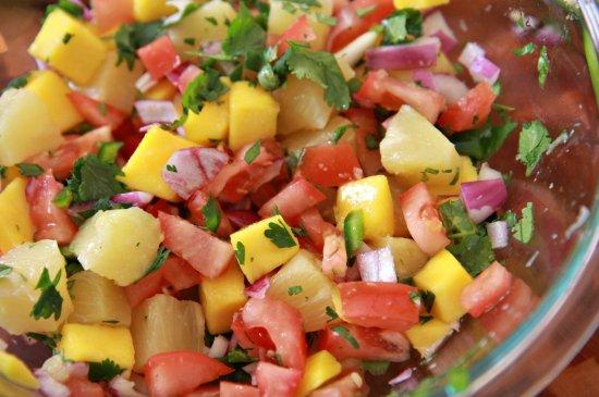 Pork Chops with Mango Pineapple Salsa