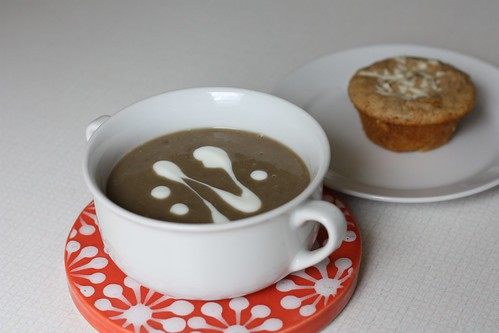 Lentil-Chestnut Soup and Barley Muffin