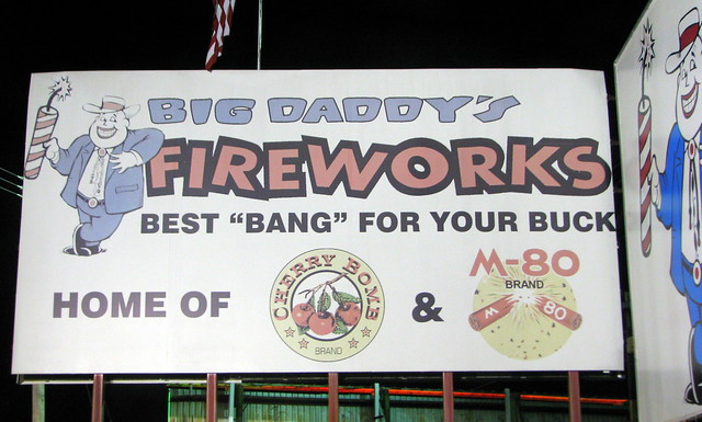 Big Daddy Fireworks sign