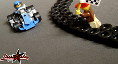 Kart Racing (And the winner is...) (ZetoVince) Tags: blue car greek lego vince racing vehicle kart instructions minifig cart zeto zetovince dreamdealer zetocart