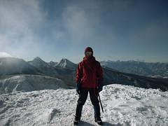 天狗岳から硫黄岳に向かう途中の、根石岳山頂