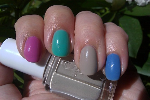 Essie Resort Collection Skittles Splash of Grenadine, Turquoise and Caicos, Playa del Platinum, Lapis of Luxury
