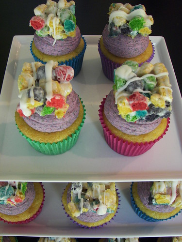 Captain Crunch Berry Cereal Cupcakes