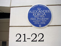 Photo of Alexander Korda blue plaque