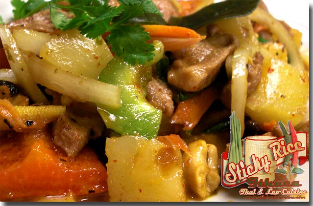 Gaeng Phed Ped Yarng (click on link below for pricing) by Sticky Rice Online