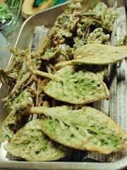 Les tempuras d'herbe sauvage