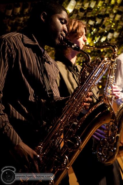 Paul Seaforth's Mo Sax at Dizzy's 41710 © Michael Klayman-010